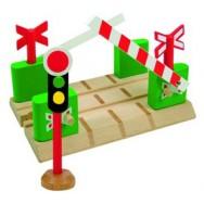 houten spoorwegovergang